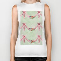 bows Biker Tanks featuring Bows and Flowers by Molly Smisko
