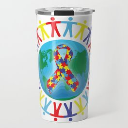 Autism awareness day Shirt - support autistic kids Travel Mug