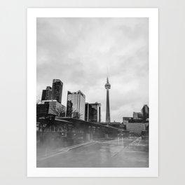 Moody Toronto Art Print