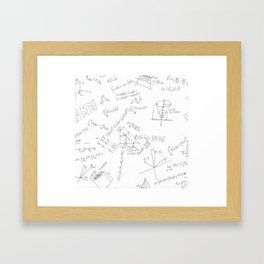 As Calculus Goes to Infinity... Framed Art Print