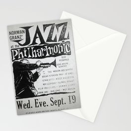 Vintage Jazz Poster, 1955 Stationery Cards