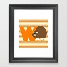w for wombat Framed Art Print