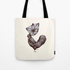 Hen's 3D hair Tote Bag