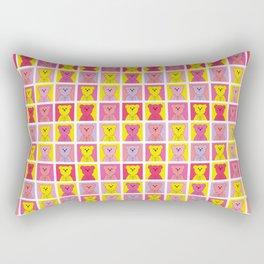 Grumpy Teds Bright Block Rectangular Pillow