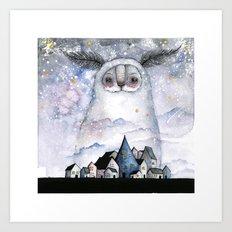 Night creature Art Print
