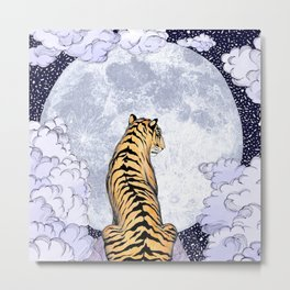 Tiger Moon | Colour Version Metal Print
