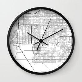 Minimal City Maps - Map Of Chandler, Arizona, United States Wall Clock