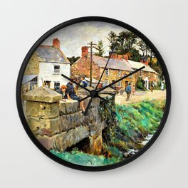 The old Bridge of Relebbus - Stanhope Alexander Forbes Wall Clock