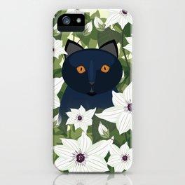 Clematis Cat iPhone Case