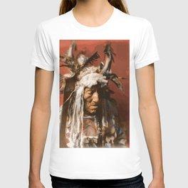 Lean Wolf - Hidatsa - American Indian T-shirt