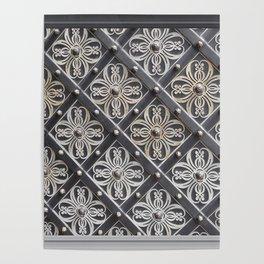 Metallic And Decorative - Grey Monochrome #decor #society6 #buyart Poster