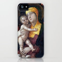 Andrea Mantegna The Holy Family with Saint Mary Magdalen iPhone Case