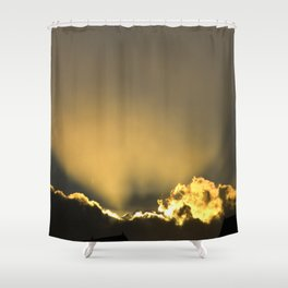 The Moment of Divine Breakthrough Shower Curtain