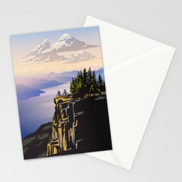 Retro travel BC poster Stationery Cards