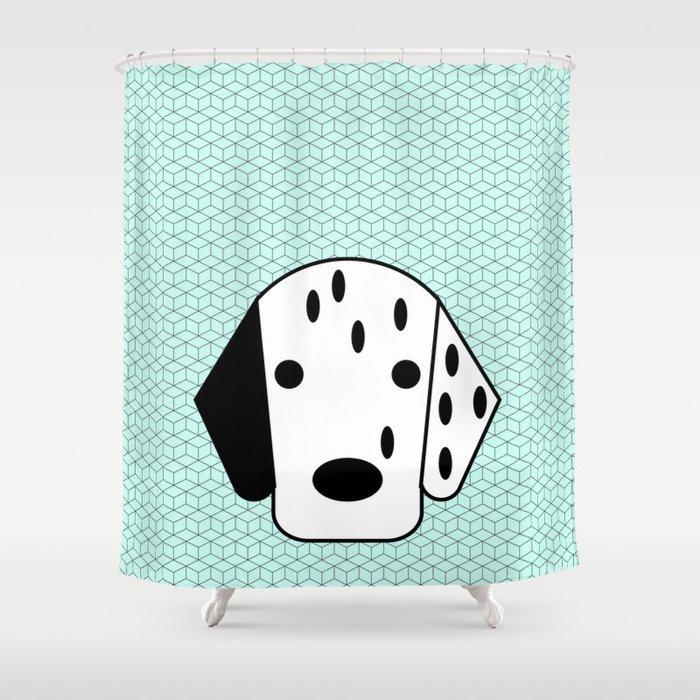 Pop Dog Dalmatian Shower Curtain By Lazylittleluckygirl