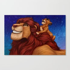 Lion King: Whenever You Feel Alone... Canvas Print