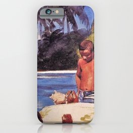 Winslow Homer's African American Masterpiece, Father & Son, The Coral Reefs, The Florida Keys landscape painting iPhone Case