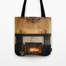 Cozy Fireplace Tote Bag