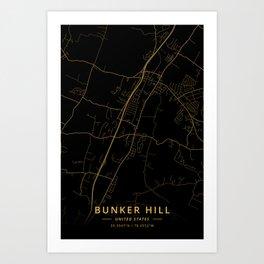 Bunker Hill, United States - Gold Art Print