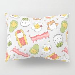 Cat food and succulent Pillow Sham