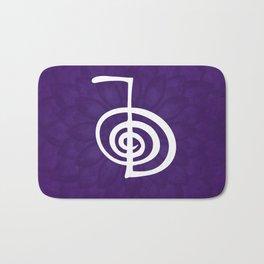 Reiki Cho Ku Rei - in purple lotus Bath Mat