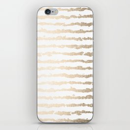 White Gold Sands Ink Stripes iPhone Skin