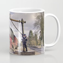 Taking water at Drei-Annen-Hohne Coffee Mug