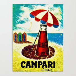 Vintage 1957 Cordial Campari Advertisement Poster Poster