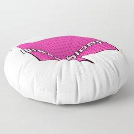 Bleep Bloop Robot Speech Bubble Design Floor Pillow