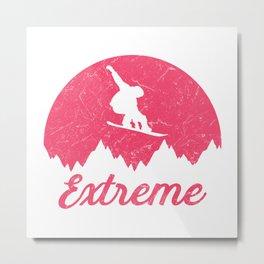 Snowboard Skyline Extreme Metal Print
