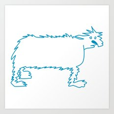 Ice Dog Art Print