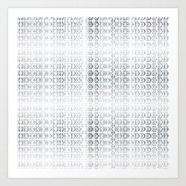 joy alphabet [ need more toner ] Art Print