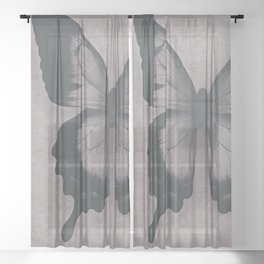 Damask Butterfly Sheer Curtain