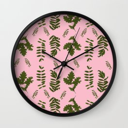 Leaves collection I Wall Clock