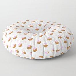 Ice Gems Pattern in Pink Floor Pillow