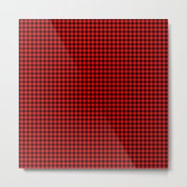 Mini Red and Black Cowboy Buffalo Check Metal Print