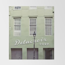 New Orleans Delacroix Building Throw Blanket