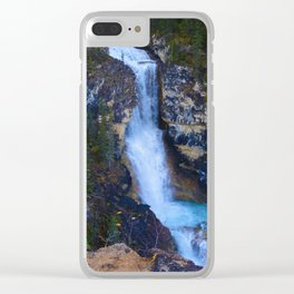 Falls of the Pool along the Berg Lake Trail in BC, Canada Clear iPhone Case
