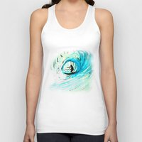 surfer Tank Tops featuring Surfer by Bruce Stanfield