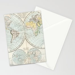 Old Map of The Globe Stationery Cards