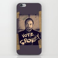 crowley iPhone & iPod Skins featuring Vote Crowley! by KanaHyde
