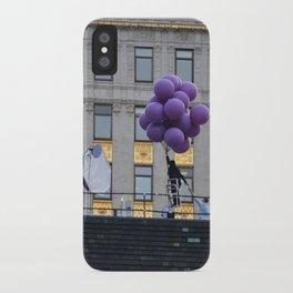 Purple balloon iPhone Case