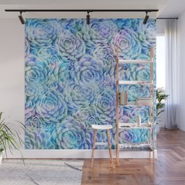 Rainbow succulents Wall Mural