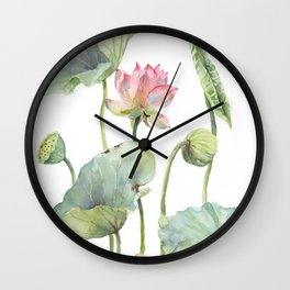 Lotus Home for a Little Mouse Wall Clock