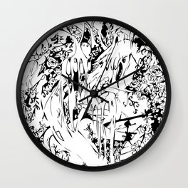 Flowing Obsessions Wall Clock