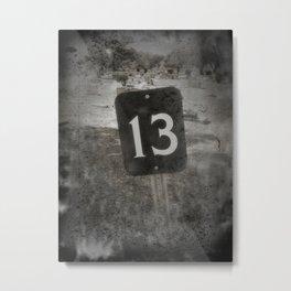 Lucky 13 Metal Print