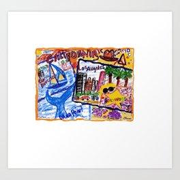 California Postcard Art Print