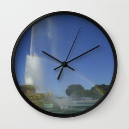 Buckingham Fountain Rainbow Wall Clock