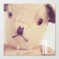 B for bear Canvas Print