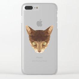 triangular cat Clear iPhone Case